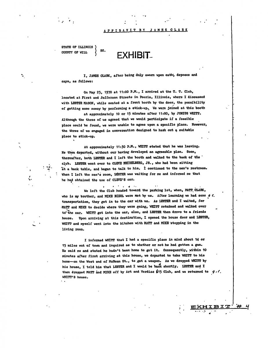 James Clark Affidavit 1  Free Affidavit